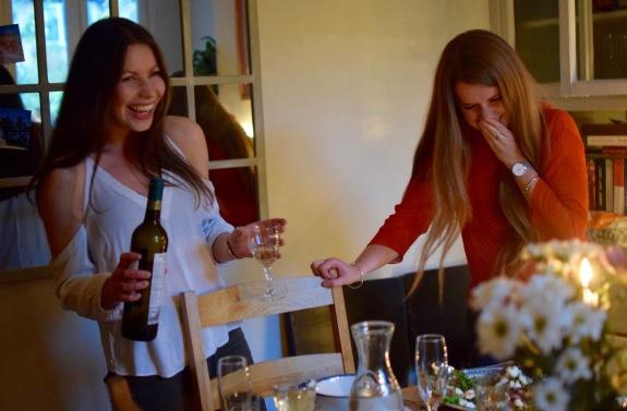 Gabi and Luce at Gooce Supper Club